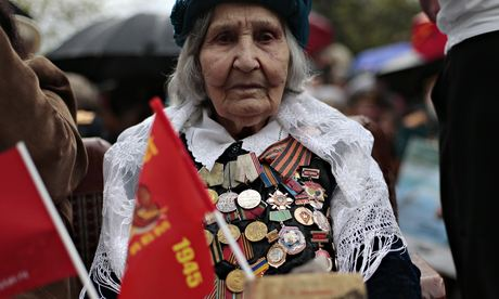 Crimea veteran at Victory Day